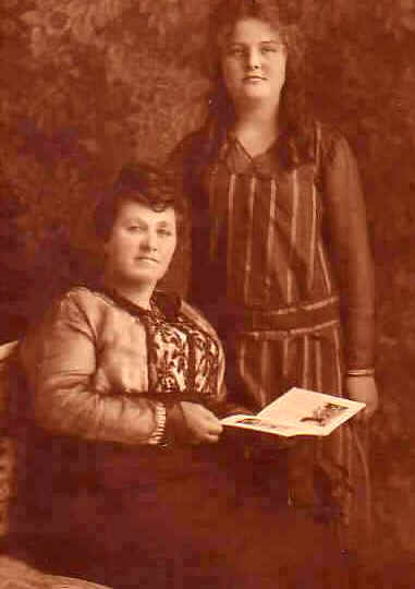 Spiritual Possession. Lurancy Vennum, seated, and her daughter Dortha, early 1920s.