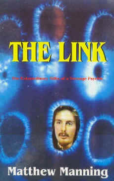 Psychic healer. Cover of 'The Link' - Matthew Manning's first book
